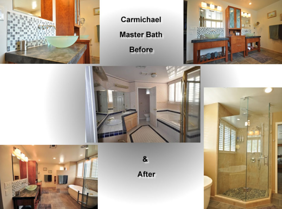 Before and After Bathroom Remodel by David Lanni Construction - Sacramento, CA