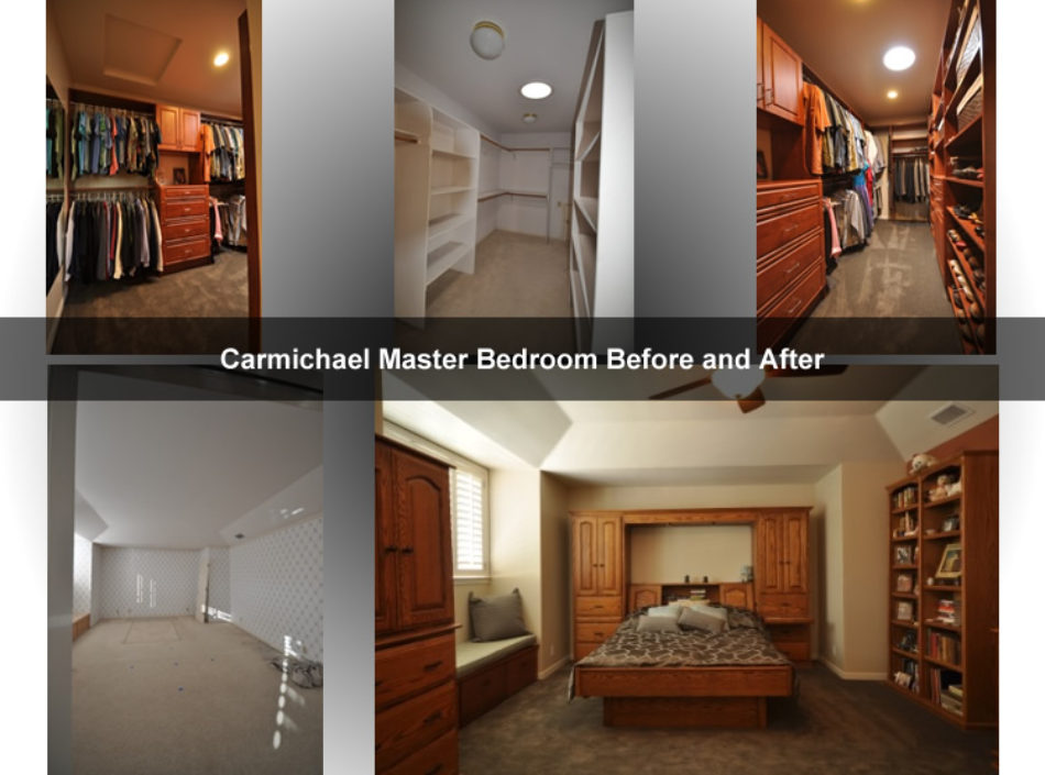 Before and After Bedroom Remodel by David Lanni Construction - Sacramento, CA