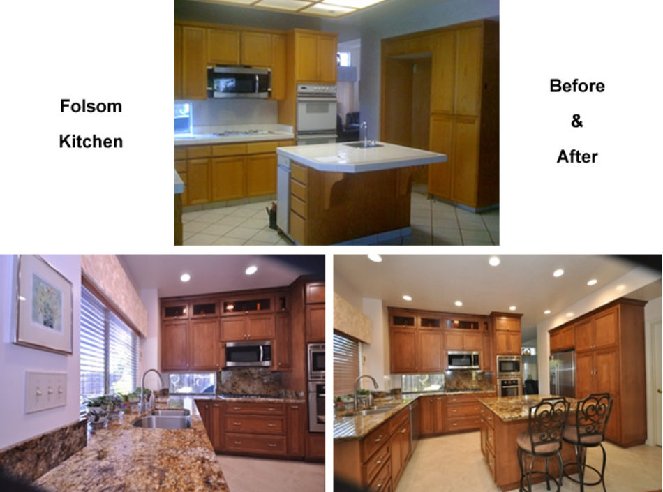 Before and After Kitchen Remodel by David Lanni Construction - Sacramento, CA